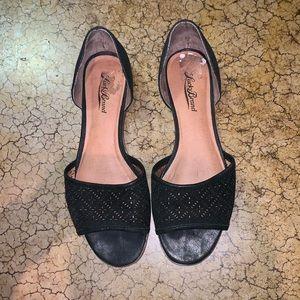 Lucky brand peep toe flats